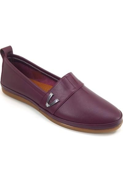 Estile 61 Günlük Kadın Ayakkabı Bordo