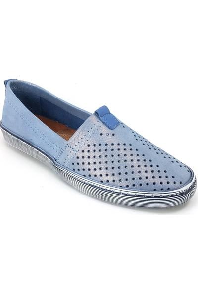Estile 241 Günlük Kadın Ayakkabı Mavi