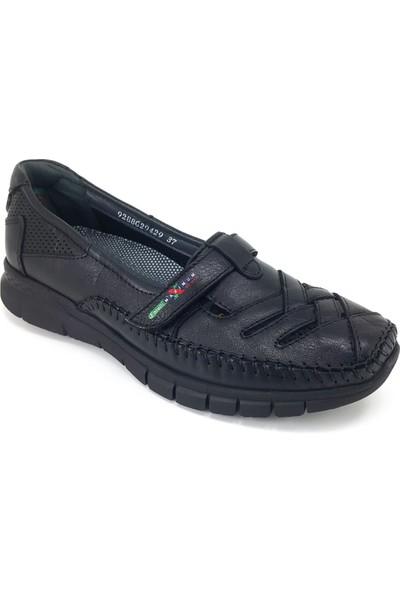 Forelli 29429 Ortopedik Günlük Kadın Ayakkabı Siyah