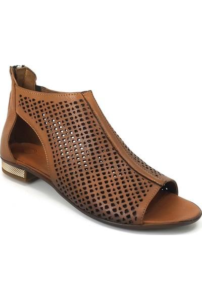 Mammamia 3230 Günlük Kadın Sandalet Taba