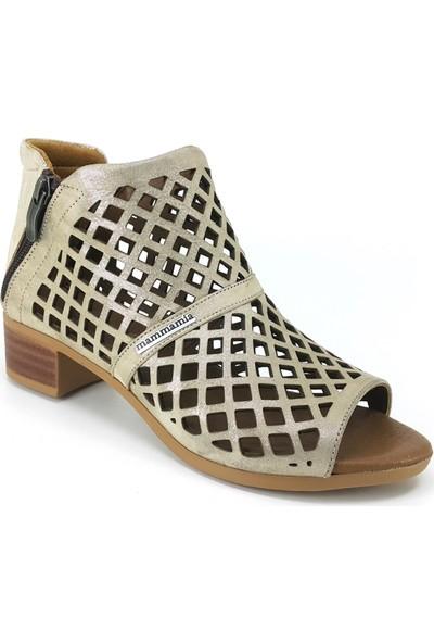 Mammamia 815 Günlük Kadın Ayakkabı Bej