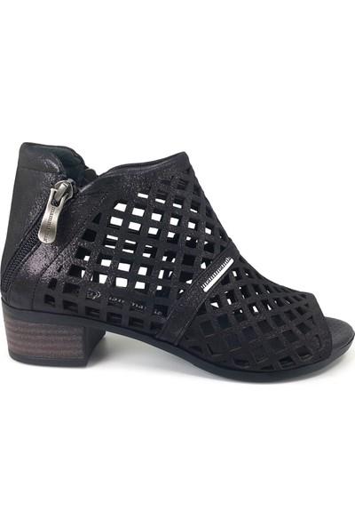 Mammamia 815 Günlük Kadın Ayakkabı Siyah Çelik