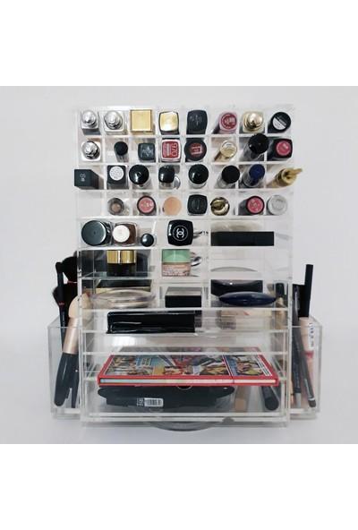 Makyaj Organizer Marilyn Çekmeceli Akrilik Kozmetik Düzenleyici