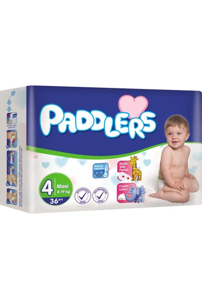Paddlers Maxi 4 Numara 36 Adet (8-19 kg)