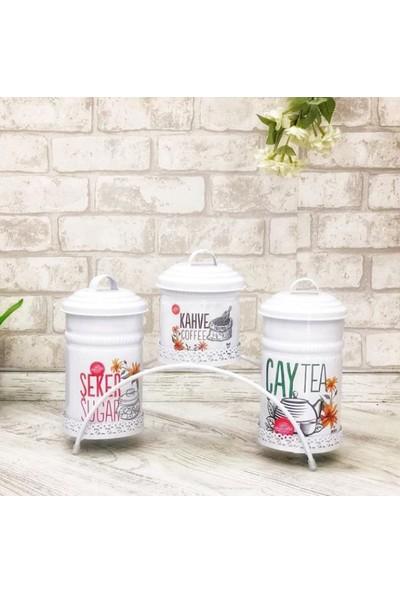 Shaddy Goods Dekoratif Çay Şeker Kahve Saklama Kabı