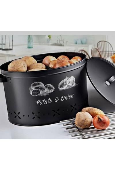 Shaddy Goods Patates Soğan Saklama Kabı 2 Bölmeli