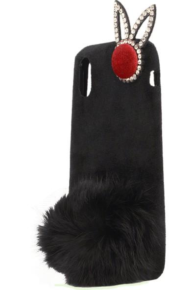 Newcase Apple iPhone X Tavşanlı Kılıf Siyah