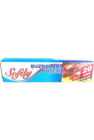 Softly Buzdolabı Poşeti 20'li Büyük Boy 30x45