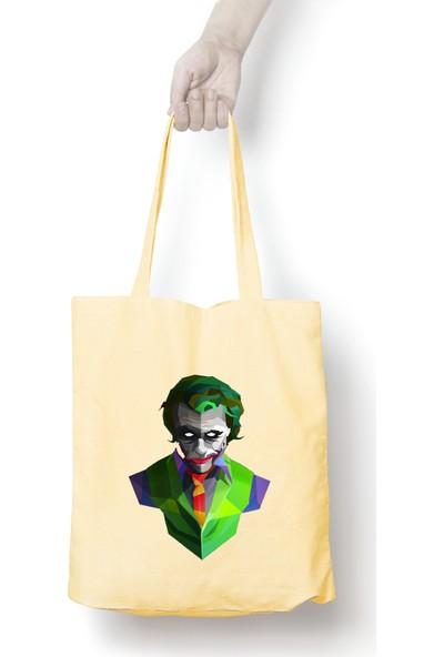 Anadolu Promosyon Joker Desenli Ham Bez Omuz Çantası
