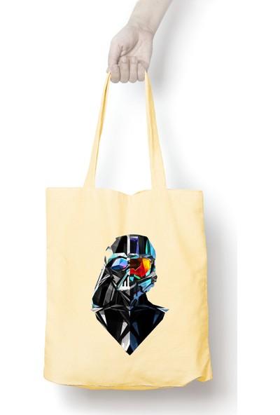 Anadolu Promosyon Star Wars Desenli Ham Bez Omuz Çantası