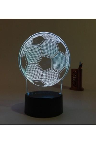 Birtopal Led Masa Lambası Futbol Topu