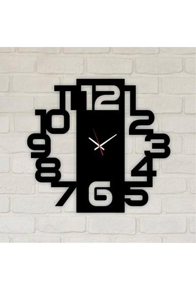 Trend Box Modern Dekoratif Ahşap Duvar Saati 50 cm-5