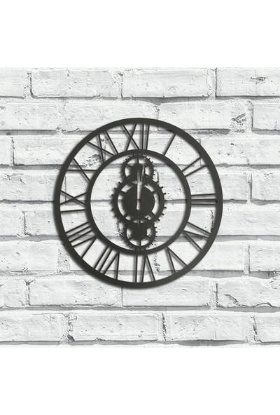 Foccaa Dizayn Metal Duvar Saati Roma Rakamlı Çark Xl