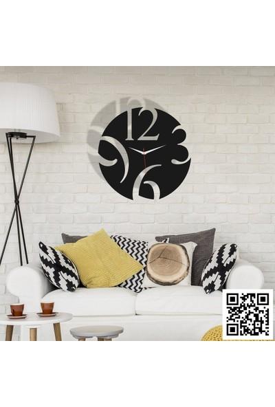 Trend Box Modern Dekoratif Ahşap Duvar Saati 50 cm-48