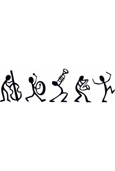 Bugico Design'dan Dans Eden Müzik Adamlar Duvar Sticker