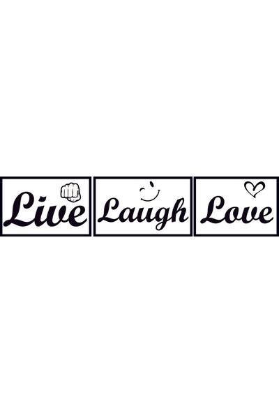 Bugico Design'dan Live-Laugh-Love Duvar Sticker