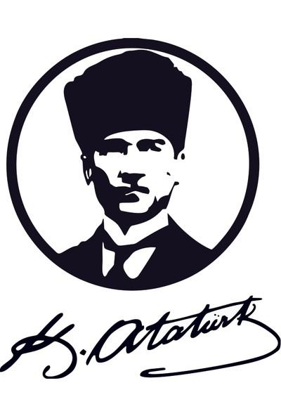 Bugico Design'dan Mustafa Kemal Atatürk 2 Duvar Sticker
