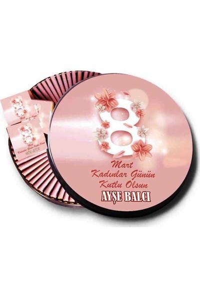 Gondol Çikolata Metal Kutuda İsme Özel Kadınlar Günü Çikolatası 48'li