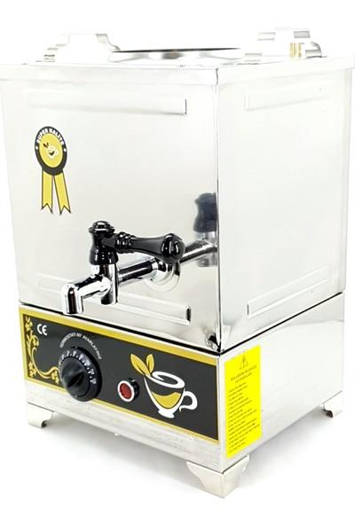 Yzc Çay Kazanı 10 Litre Çay Makinesi 1 Demlikli Elektrikli Çay Semaveri