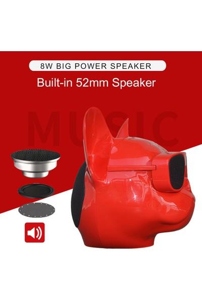 Case 4U Bulldog Taşınabilir Bluetooth Kablosuz Hoparlör - Hafıza Kartı - Aux - Ses Bombası - Rose Gold*