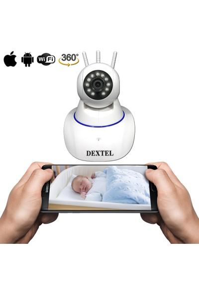 Dextel 360º Gerçek Hd Wifi Kablosuz 3 Antenli IP Bebek ve Güvenlik Kamerası