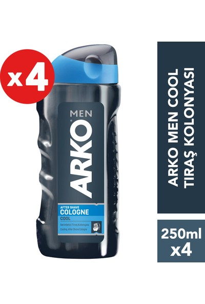 Arko Men Cool Tıraş Kolonyası 4'lü Paket 250 ml