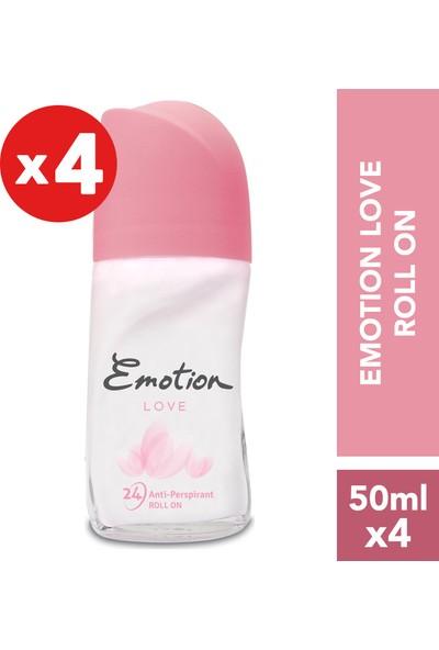 Emotion Love Kadın Roll-On Deodorant 4'lü 50 ml