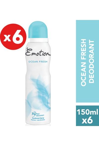Emotion Ocean Fresh Kadın Deodorant 6'lı 150 ml