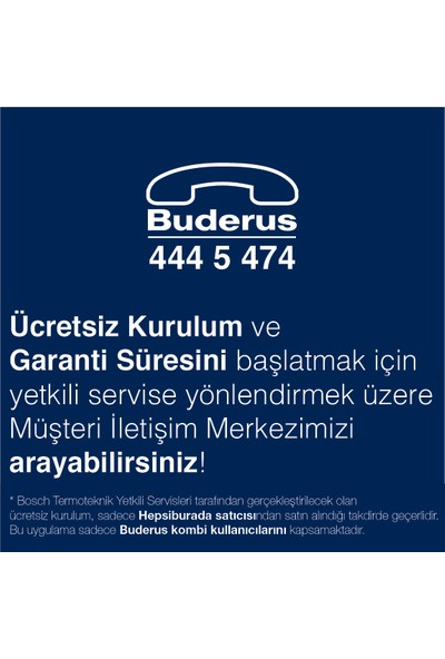 Buderus RT24RF Kablosuz Oda Termostatı / Kumandası