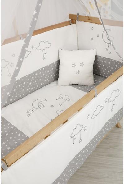 Babybee Gri Yıldızlı Uyku Seti 60 x 120 cm