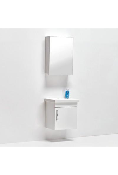 Hepsi Home Saydam Maya Mdf Ebeveyn Banyo Dolabı 50x38 cm Beyaz