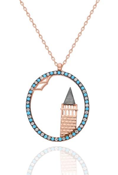 Chewel Gümüş Kız Kulesi Kolye