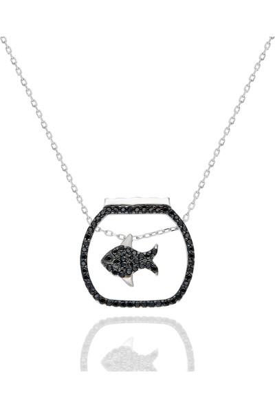 Chewel Gümüş Fanus Balık Kolye