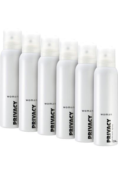 Privacy Woman Kadın Deodorant 6'lı 150 ml