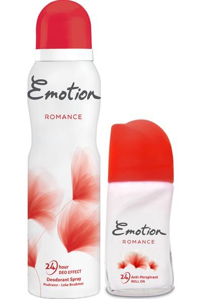 Emotion Romance Kadın Deodorant 150 ml + Roll on 50 ml