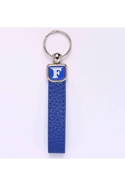 Yeni Hayat Shoping Yeni131 Deri Saplı Harf Anahtarlık Mavi