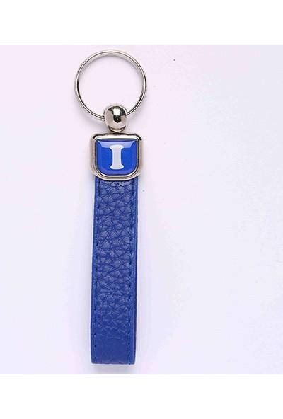 Yeni Hayat Shoping Yeni145 Deri Saplı Harf Anahtarlık Mavi