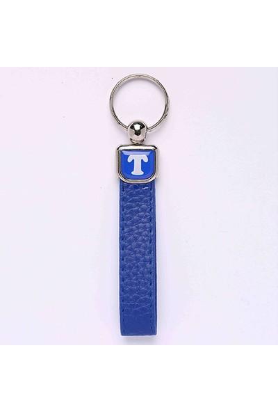 Yeni Hayat Shoping Yeni151 Deri Saplı Harf Anahtarlık Mavi