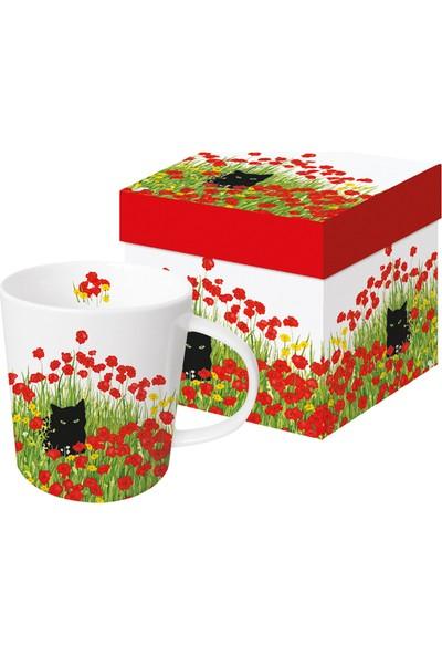 PaperProducts Design GMBH Black Cat Poppies Porselen Kupa