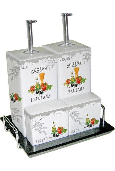 PaperProducts Design GMBH Cucina İtaliana Yağlık Sirkelik Seti