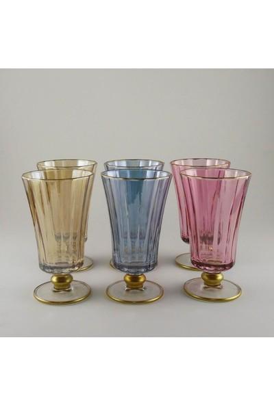 Paşabahçe Diamond 6 lı Kahve Yanı Su bardak Takımı (Lüsterli)