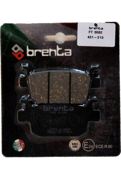 Benellı TNT 250 Disk Brenta Fren Arka Balata (2015-2018)