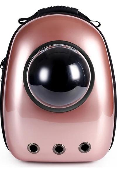 Miapet Astronot Kedi Köpek Taşıma Çantası 43x23x29 cm Fransız Gül Rengi