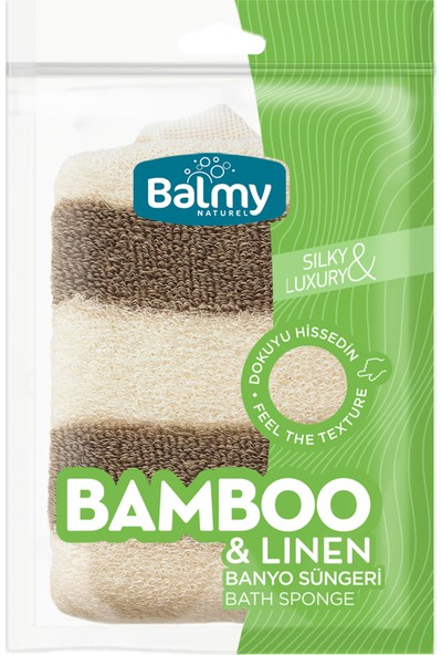 Balmy Naturel Bambu- Keten Banyo Süngeri