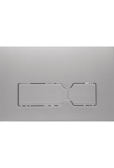 Kale Start Kalin Gömme Rezervuar Paneli - Mat Krom 12 cm