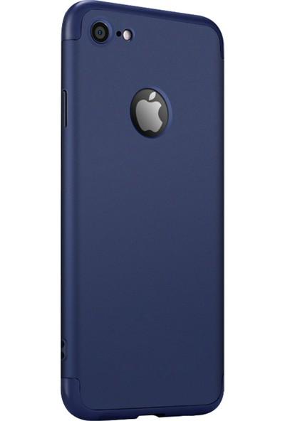 Caseup Apple iPhone 6 Kılıf Triple Deluxe Shield Lacivert + Nano Cam