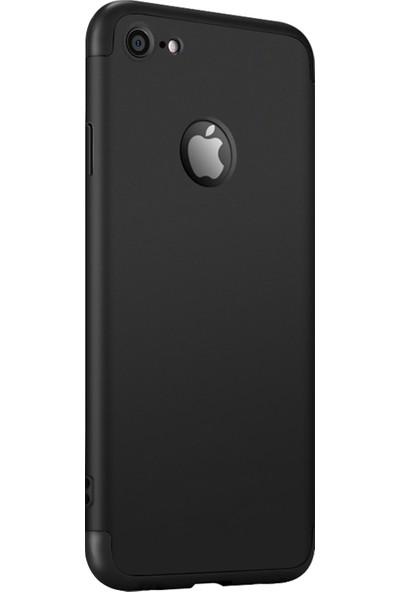Caseup Apple iPhone 6 Kılıf Triple Deluxe Shield Siyah + Nano Cam