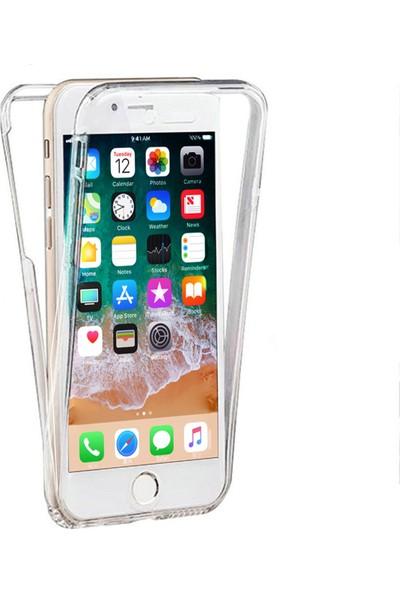 Caseup Apple iPhone 7 Plus Kılıf 360 Çift Taraflı Silikon Şeffaf + Nano Cam