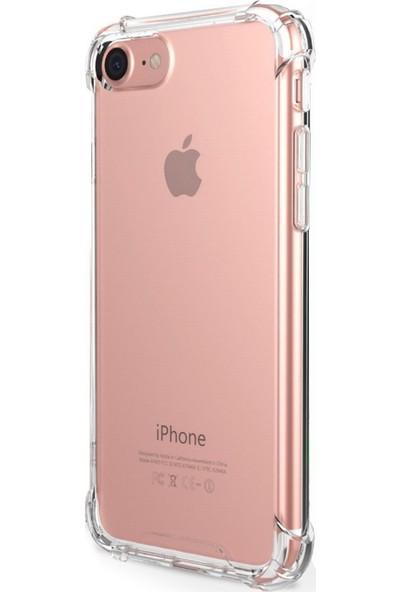Caseup Apple iPhone 8 Kılıf Titan Crystal Şeffaf + Nano Cam