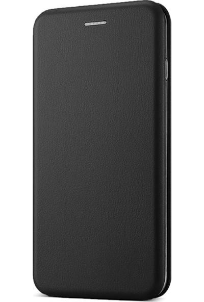 Caseup Apple iPhone XR Kılıf Manyetik Stantlı Flip Cover Siyah + Nano Cam